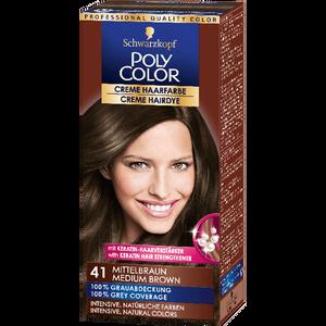 Bild: Schwarzkopf POLY COLOR Creme Haarfarbe mittelbraun