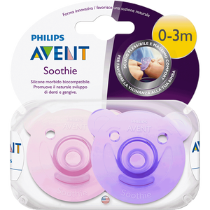 Bild: PHILIPS AVENT Schnuller Soothie, 0-3 Monate, lila/rosa