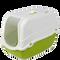 Bild: KERBL Minka Katzentoilette mit Deckel grün-weiss