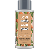 Bild: Love Beauty &  Planet Happy & Hydrated Shampoo Shea Butter & Sandalwood Oil