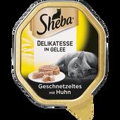 Bild: Sheba Genuss in Gelee Geschnetzeltes m. Huhn