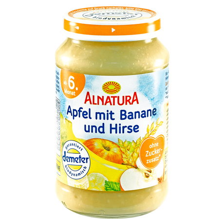 ALNATURA Apfel mit Banane und Hirse