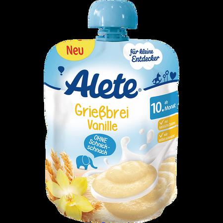 Alete Quetschbeutel Grießbrei Vanille