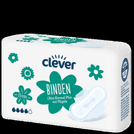 clever Binden Ultra Normal Plus mit Flüglen