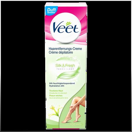 Veet Silk & Fresh Haarentfernungs-Creme trockene Haut