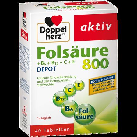 DOPPELHERZ Folsäure 800 Depot Tabletten