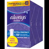 Bild: always dailies Slipeinlagen Extra Protect Long Plus Trio Pack