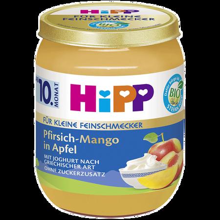 HiPP Für kleine Feinschmecker Pfirsich-Mango in Apfel mit Joghurt
