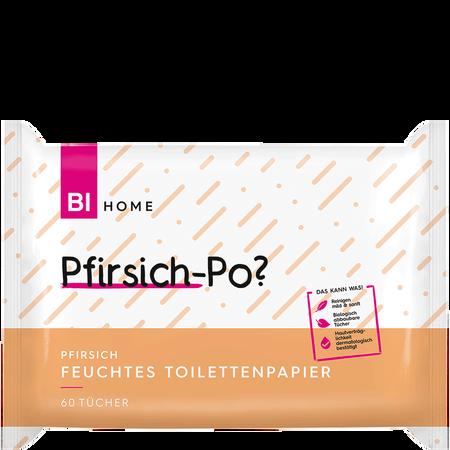BI HOME Feuchtes Toilettenpapier Pfirsich