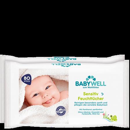 BABYWELL Feuchttücher sensitiv 2er
