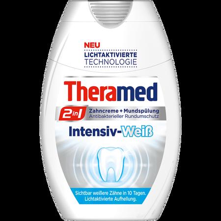 Theramed 2in1 Zahncreme + Mundspülung Intensiv-Weiß