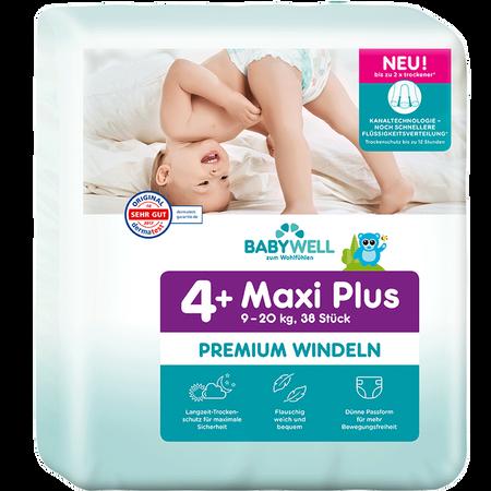 BABYWELL Premium-Windeln Maxi Plus Gr. 4+