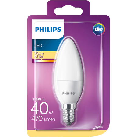 PHILIPS LED Kerze 40W E14 matt