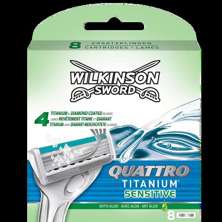 Wilkinson Quattro Titanium sensitive Klingen