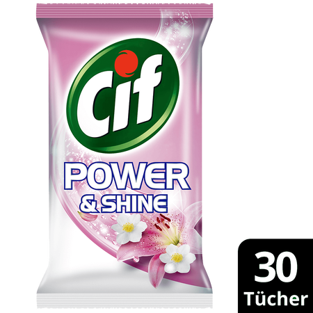 Cif Allzwecktücher Power&Shine anti-bakteriell Pink Lily