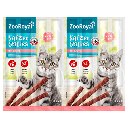 ZooRoyal Katzen Grillies mit Lachs