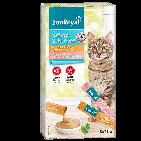 ZooRoyal Katzenschleckies 4x Geflügel, 4x Lachs