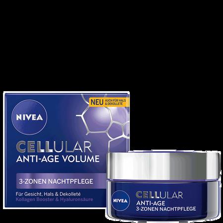 NIVEA Cellular Anti-Age Volume 3-Zonen Nachtpflege