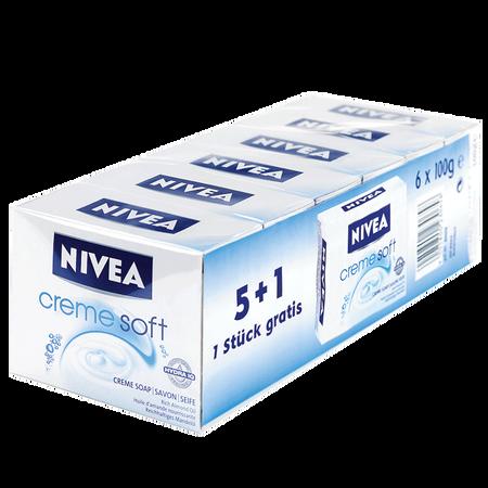 NIVEA Creme Soft Festseife 6x100g