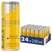 Bild: Red Bull Energy Drink Yellow Edition Tropical 24er Palette