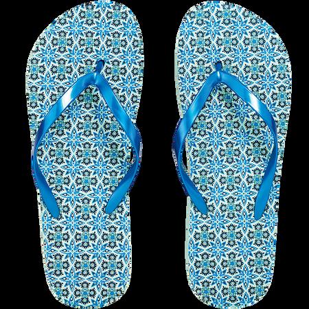 LOOK BY BIPA Flip Flop Blau/Mandala