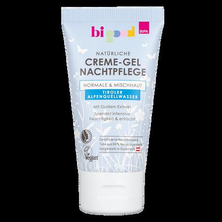 bi good Creme-Gel Nachtpflege Tiroler Alpenquellwasser