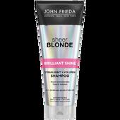 Bild: JOHN FRIEDA Sheer Blonde Brillant Shine Strahlkraft und Volumen Shampoo