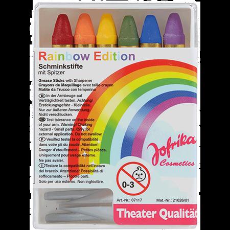 Jofrika Rainbow Edition Schminkstifte mit Spitzer