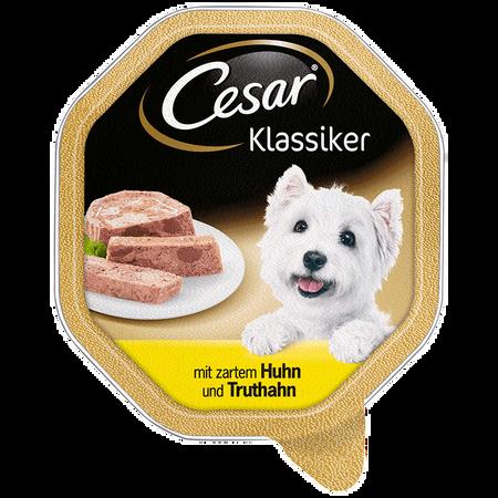 Cesar Hundefutter Klassiker mit zartem Huhn und Truthahn