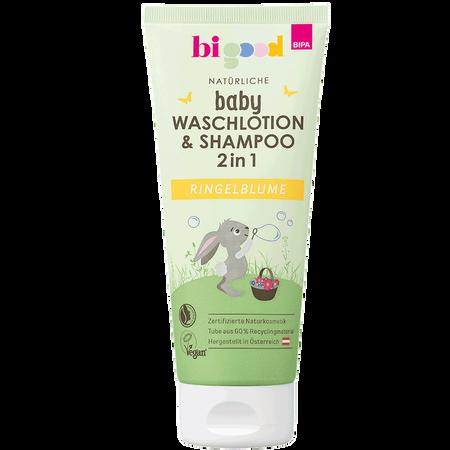 bi good Natürliche Baby Waschlotion & Shampoo 2in1 Ringelblume