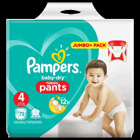 Pampers Baby-Dry Pants Gr. 4 (9-15kg) Jumbo+ Pack