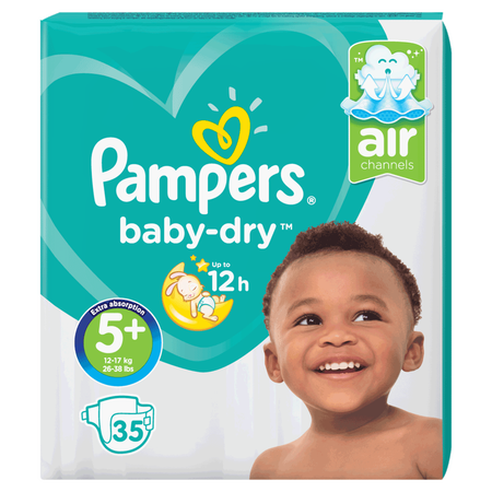 Pampers Baby-Dry Gr. 5+ (12-17kg) Value Pack