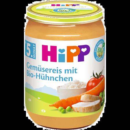 HiPP Gemüsereis mit Bio-Hühnchen