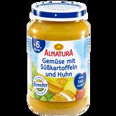 Bild: ALNATURA Gemüse mit Süßkartoffeln und Huhn