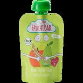 Bild: FruchtBar Quetschbeutel Fruchtpüree Birne Apfel Hirse