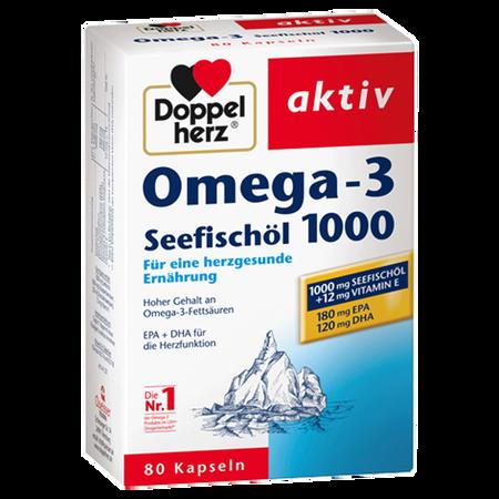 DOPPELHERZ Seefischöl Omega-3 Kapseln