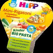 Bild: HiPP Kinder Bio-Pasta Mini Rigatoni in Gemüse-Sahnesauce