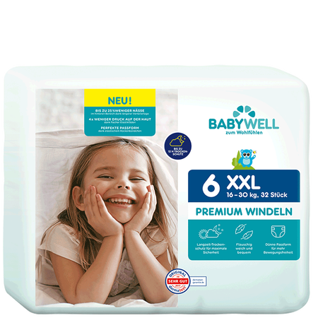 BABYWELL Premium-Windeln XXL Gr. 6