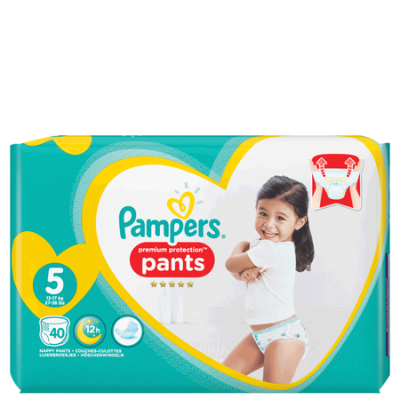 Pampers Premium Protection Pants Gr. 5 (12-17kg) Jumbo Pack