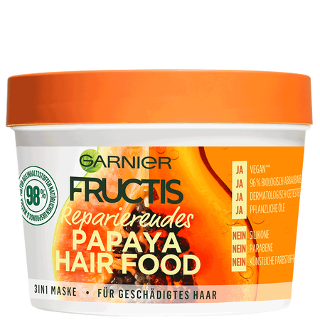 GARNIER FRUCTIS Reparierendes Papaya Hair Food 3in1 Maske