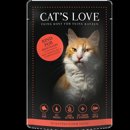 CAT´S LOVE Rind Pur Katzenfutter