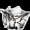Bild: Rubies Spinnennetz schwarz mit 4 Spinnen