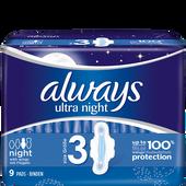 Bild: always ultra light Binden Night mit Flügeln
