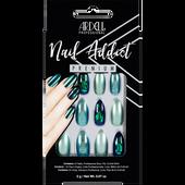 Bild: ARDELL Nail Addict Premium Kunstfingernägel Green Glitter Chrome