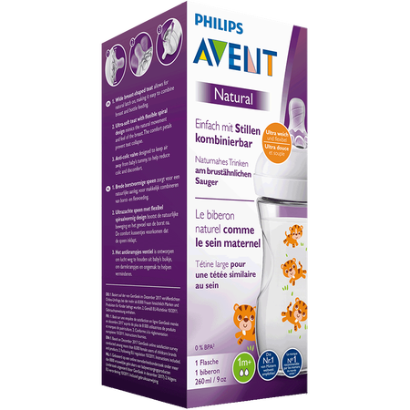PHILIPS AVENT Flasche Naturnah, 260ml, 1 Monat+, Tiger