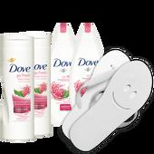 Bild: Dove Go fresh Pflegeset + Flip Flops
