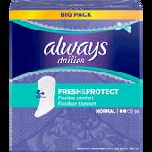 Bild: always dailies Fresh & Protect Slipeinlagen Normal BigPack/Vorteilspack