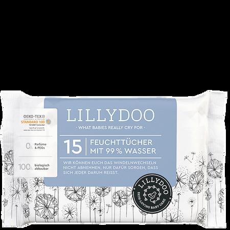 LILLYDOO Feuchttücher mit 99% Wasser