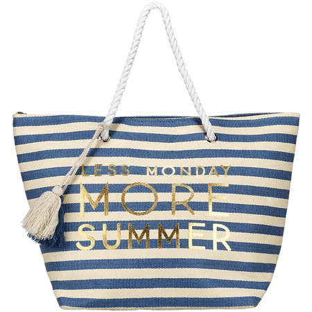 """LOOK BY BIPA Strandtasche """"Less Monday More Summer"""""""