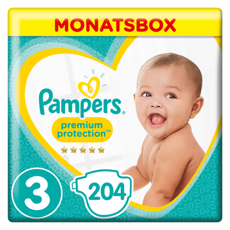 Pampers Premium Protection Gr.3 Midi 6-10kg MonatsBox